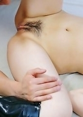 Beautiful Huwari got her long legs spread for fingers and dick